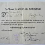 Документ к почетному кресту